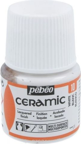 Pebeo Краска по керамике и металлу Ceramic цвет 10 белый 45 мл