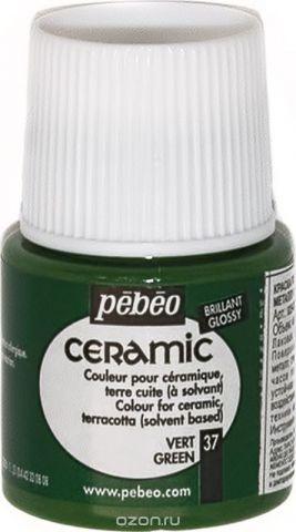 Pebeo Краска по керамике и металлу Ceramic цвет 37 зеленый 45 мл