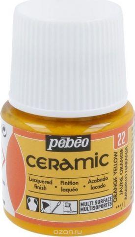 Pebeo Краска по керамике и металлу Ceramic цвет 22 желто-оранжевый 45 мл