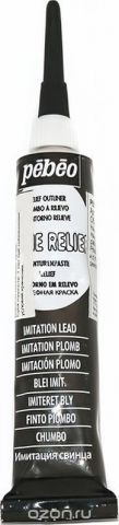 Pebeo Рельефная краска Cerne relief цвет 772000 имитация свинца 20 мл
