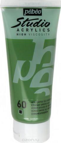 Pebeo Краска акриловая Studio Acrylics цвет 831-060 зеленый хром 100 мл