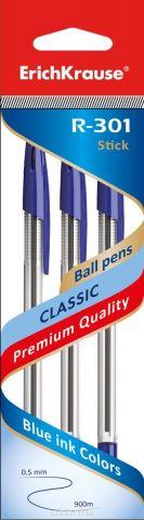 Erich Krause Набор шариковых ручек R-301 Classic 1.0 Stick 3 шт 42618