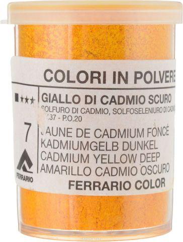 Ferrario Пигмент группа 6 цвет 7 Gialo cadmio scuro