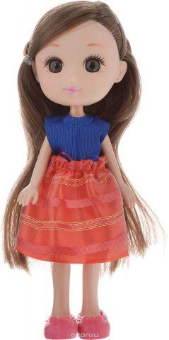 Yako Кукла Катенька цвет платья синий красный