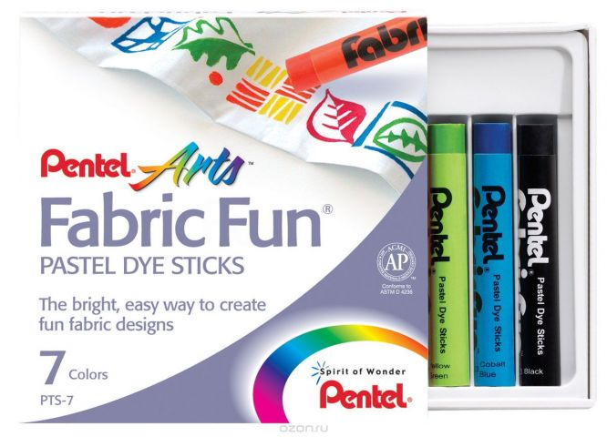 Pentel Краска для ткани FabricFun Pastels 7 цветов