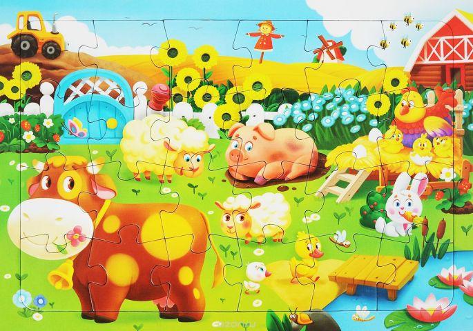 Животные на ферме. Пазл