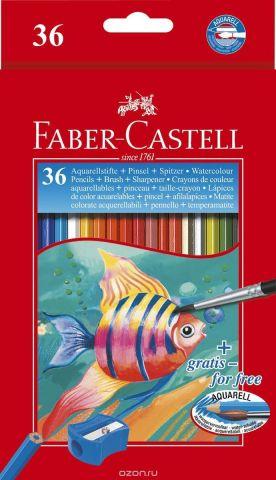 Faber-Castell Акварельные карандаши Рыбки с кисточкой 36 шт