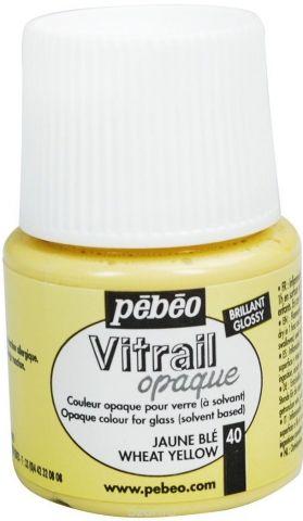 Pebeo Краска для стекла и металла Vitrail opale лаковая полупрозрачная цвет 050-040 пшеничный 45 мл