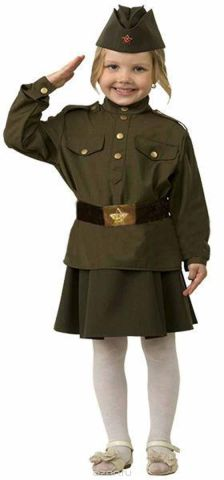 Батик Карнавальный костюм для девочки Солдатка размер 28