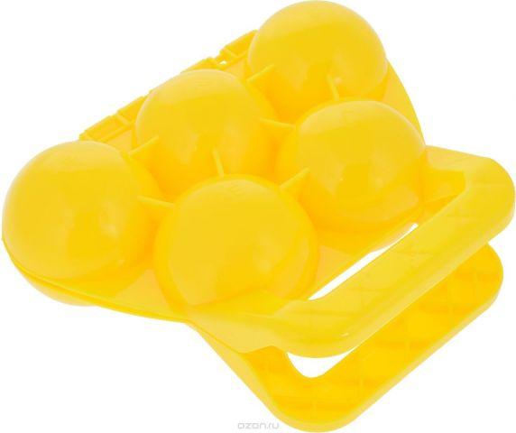 Зимние забавы Снежколеп 5 ячеек цвет желтый