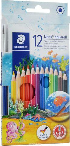 Staedtler Набор акварельных карандашей Noris Club с кисточкой 12 цветов