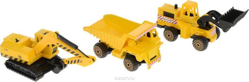 ТехноПарк Набор машинок Стройтехника цвет желтый 3 шт