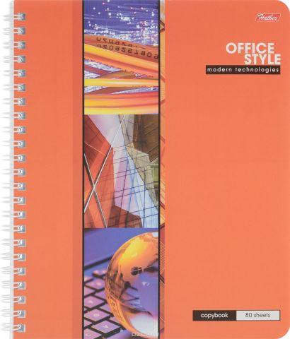 Hatber Тетрадь Офис 80 листов в клетку цвет оранжевый