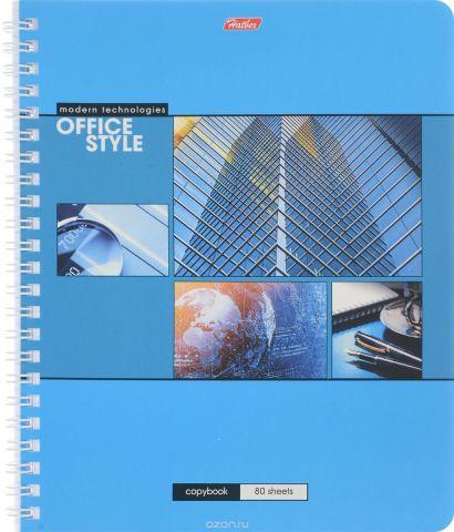 Hatber Тетрадь Офис 80 листов в клетку цвет голубой