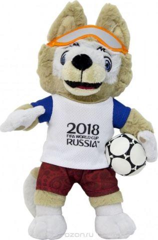 FIFA-2018 Мягкая игрушка Волк Забивака 33 см