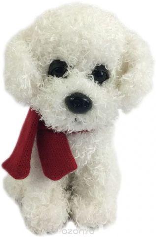 Teddy Мягкая игрушка Собака с шарфиком 16 см