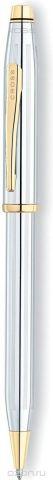 Cross Ручка шариковая Century II цвет корпуса серебристый золотистый