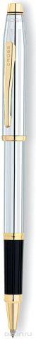 Cross Ручка-роллер Selectip Century II цвет корпуса серебристый золотистый