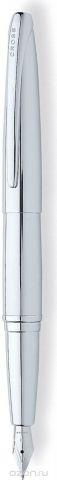 Cross Ручка перьевая ATX цвет корпуса серебристый среднее перо