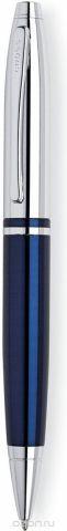 Cross Ручка шариковая Calais цвет корпуса синий серебристый