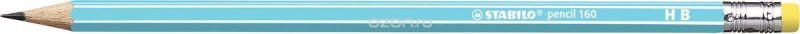 STABILO Карандаш чернографитный Pencil 160 цвет корпуса голубой