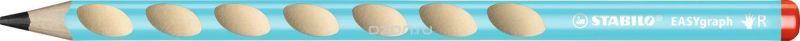 STABILO Карандаш чернографитный EASYgraph для правшей цвет корпуса голубой