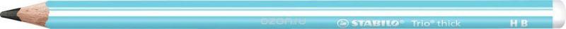 STABILO Карандаш чернографитный Trio 399 цвет корпуса голубой