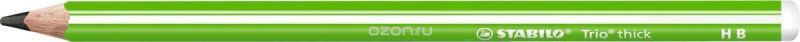 STABILO Карандаш чернографитный Trio 399 цвет корпуса зеленый