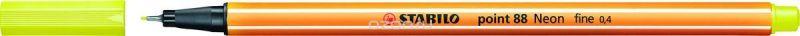 STABILO Ручка капилярная Point 88 неоновая желтая