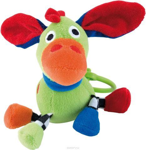 Canpol Babies Игрушка подвесная с погремушкой Сумасшедшие животные Осел цвет зеленый