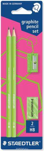 Staedtler Набор чернографитных карандашей Wopex 2 шт с ластиком и точилкой цвет зеленый