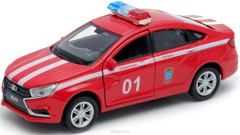 Welly Модель автомобиля LADA Vesta пожарная охрана