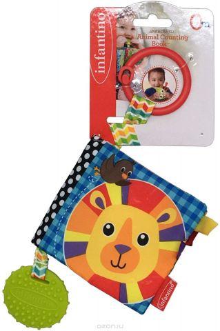 Infantino Книжка-игрушка Посчитай животных