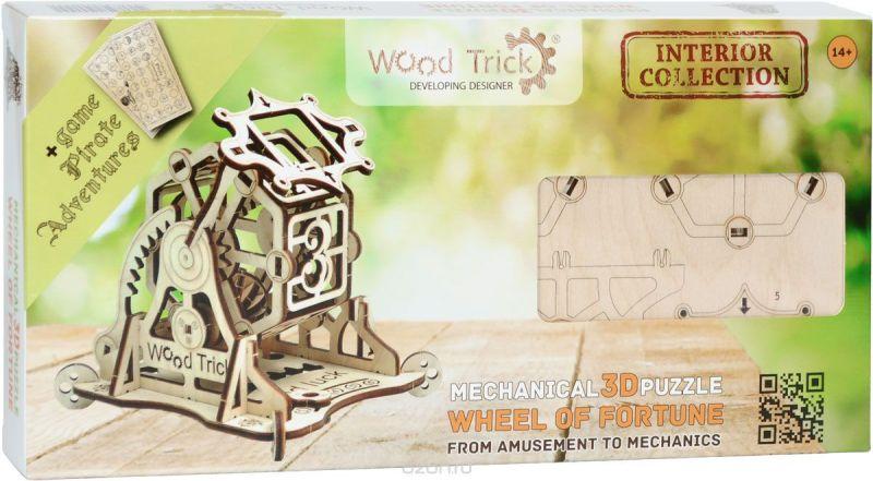 Wood Trick 3D Пазл Колесо фортуны с настольной игрой