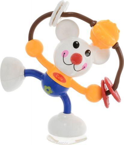 Ути-Пути Развивающая игрушка Мышка цвет белый синий желтый