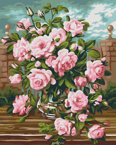 """Набор для рисования по номерам Мосфа """"Розовый букет"""", 40 х 50 см"""