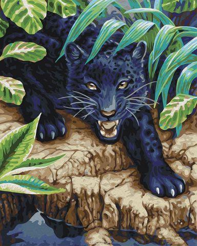 """Набор для рисования по номерам Мосфа """"Черный леопард"""", 40 х 50 см"""