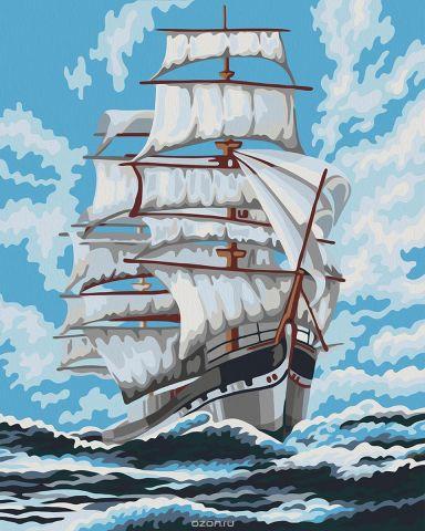 """Набор для рисования по номерам Мосфа """"Попутный ветер"""", 40 х 50 см"""