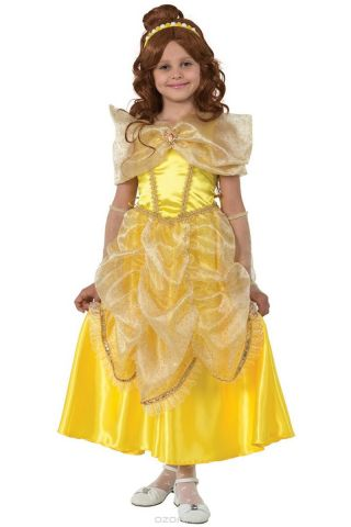 Батик Костюм карнавальный для девочки Принцесса Белль размер 34