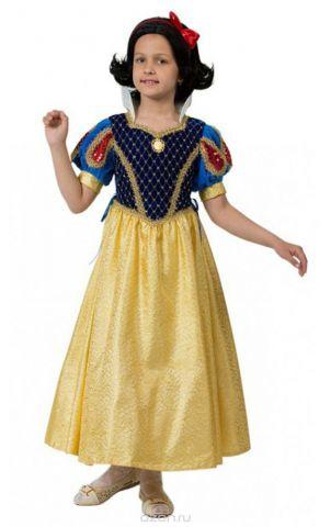 Батик Костюм карнавальный для девочки Принцесса Белоснежка размер 38