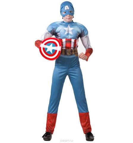 Батик Костюм карнавальный для мальчика Капитан Америка размер 28