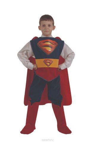 Батик Костюм карнавальный для мальчика Супермен размер 34