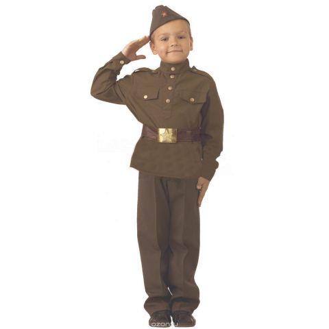 Батик Костюм карнавальный для мальчика Солдат размер 34