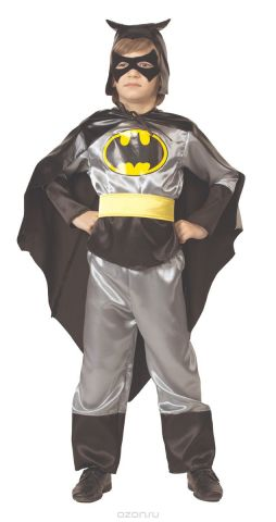Батик Костюм карнавальный для мальчика Черный Плащ цвет черный серый желтый размер 28