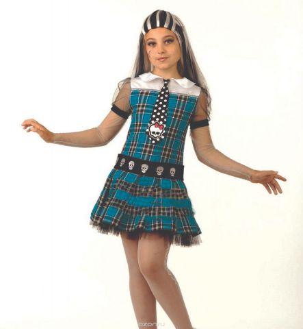 Батик Костюм карнавальный для девочки Фрэнки Штейн размер 34