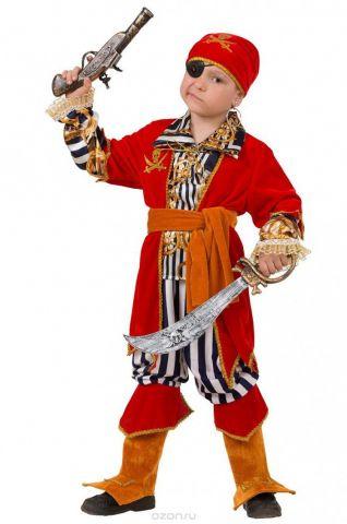 Батик Костюм карнавальный для мальчика Пират Морской размер 28