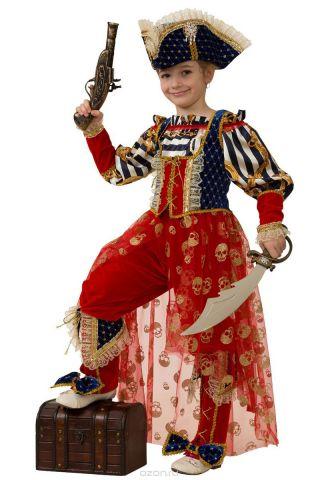 Батик Костюм карнавальный для девочки Пиратка Морская размер 34