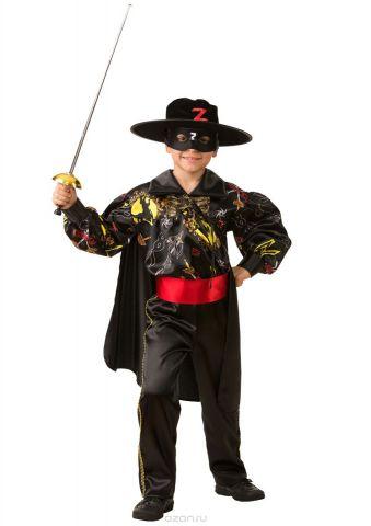 Батик Костюм карнавальный для мальчика Зорро сказочный размер 28