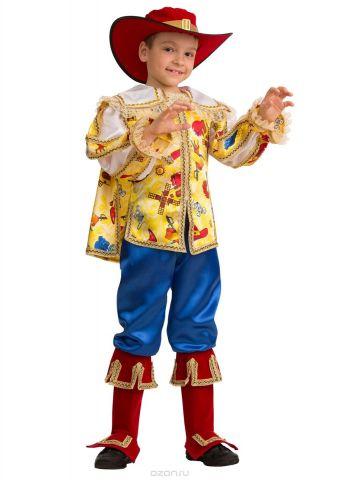 Батик Костюм карнавальный для мальчика Кот в сапогах сказочный размер 26
