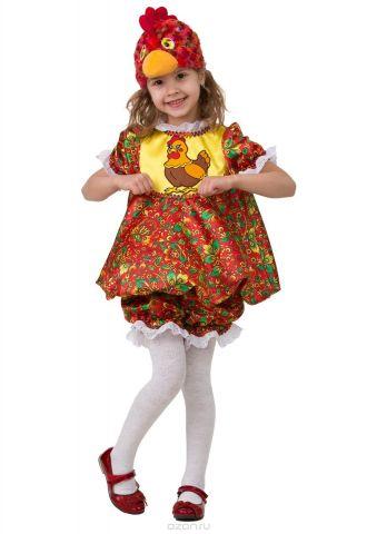 Батик Костюм карнавальный для девочки Курочка Пеструшка размер 28